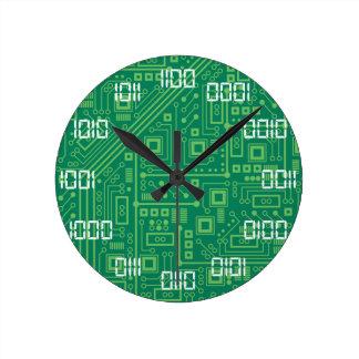 Binära Time Rund Klocka