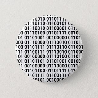 Binärt: Jag älskar för att programmera Standard Knapp Rund 5.7 Cm
