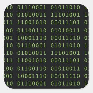 Binärt kodifiera fyrkantigt klistermärke