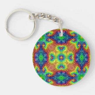 Bind färghimmelakrylen Keychains, 6 stilar Dubbelsidigt Rund Akryl Nyckelring