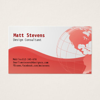Binda den röda jordklotAmericas visitkorten Visitkort
