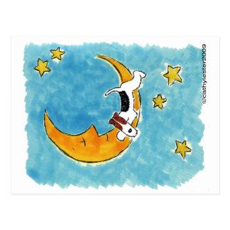 Binda foxterriern på månen vykort