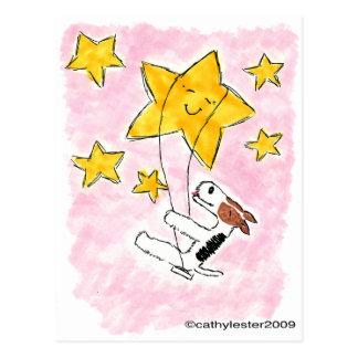 Binda foxterrierswingin på en stjärna vykort