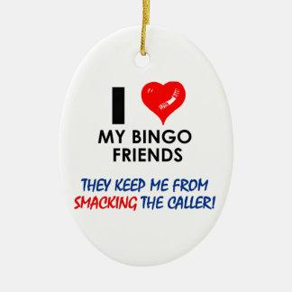 BINGO! Bingodesigner för den sagolika spelare! Julgransprydnad Keramik