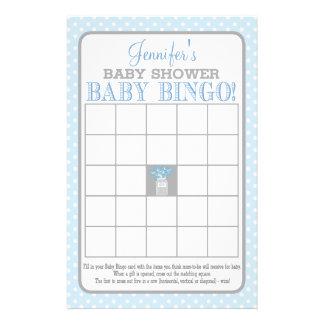 Bingo för baby för Masonburk (blått) Reklamblad 14 X 21,5 Cm