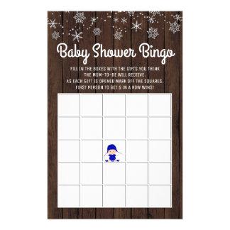 Bingo för baby för Snowflake för baby Reklamblad 14 X 21,5 Cm