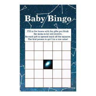 Bingo för baby shower för flygblad