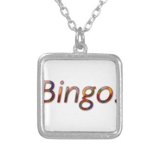 Bingo! Halsband Med Fyrkantigt Hängsmycke