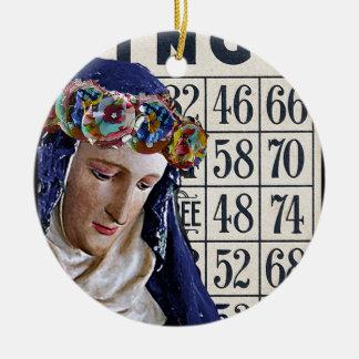 BINGO Madonna, förändrat konstoriginal Julgransprydnad Keramik