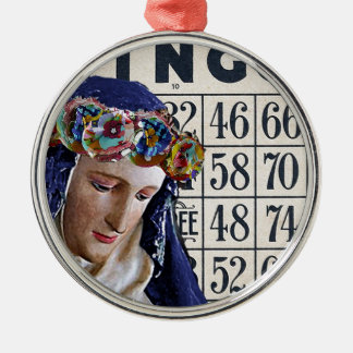 BINGO Madonna, förändrat konstoriginal Julgransprydnad Metall