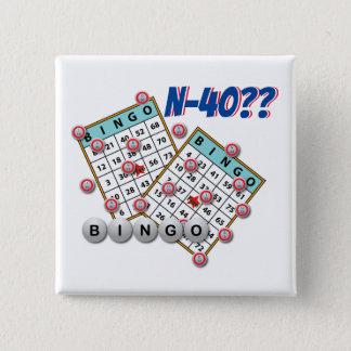 Bingo N40 Las Vegas Nevada Standard Kanpp Fyrkantig 5.1 Cm