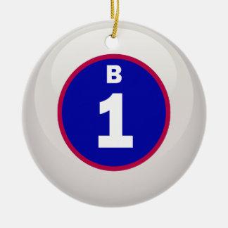 Bingoboll för B 1 Julgransprydnad Keramik