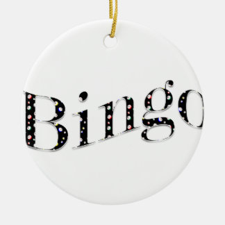 Bingoen är din lek! julgransprydnad keramik