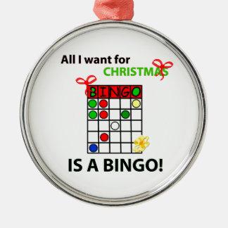 BINGOEN önskar jag en bingo för jul Julgransprydnad Metall