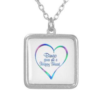 Bingolycklighjärta Silverpläterat Halsband