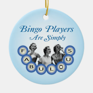 Bingospelare är den enkelt sagolika prydnaden julgransprydnad keramik