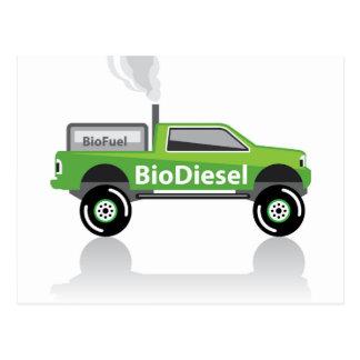 Bio diesel- pickup lastbil vykort