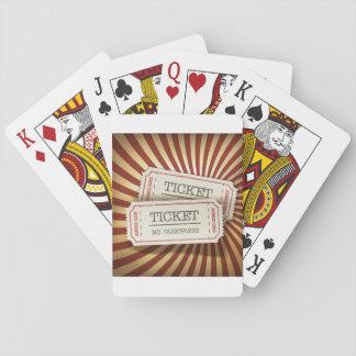 Biobiljetter som leker kort casinokort