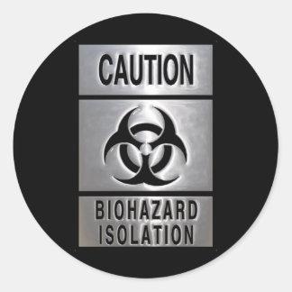 Biohazardisolering Rund Klistermärke