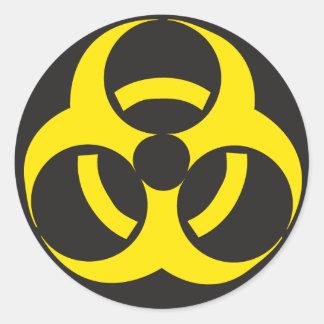 Biohazardklistermärke Runt Klistermärke