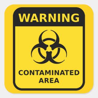 Biohazardvarningsklistermärke Fyrkantigt Klistermärke
