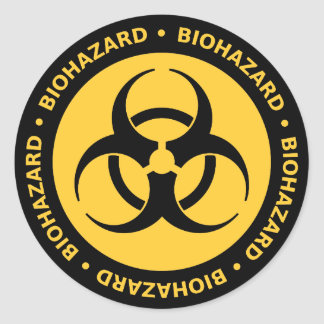 Biohazardvarningsklistermärke Runt Klistermärke