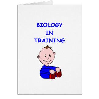 BIOLOGIbebis Hälsningskort