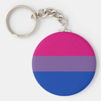 Biprideflagga Keychain (klassikern) Rund Nyckelring