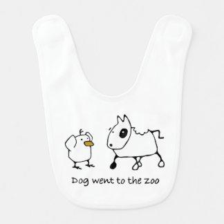 Birddogbabyhaklapp - hunden gick till zooen
