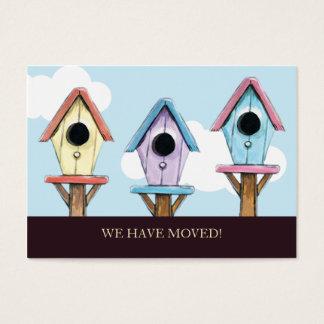 Birdhouses | har vi flyttat mini- meddelande visitkort