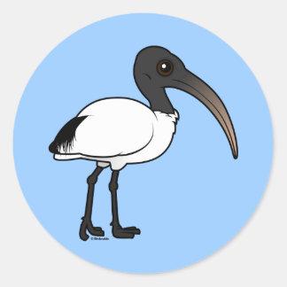 Birdorable sakrala Ibis Runt Klistermärke