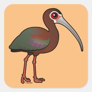 Birdorable Vit-vände mot Ibis Fyrkantigt Klistermärke