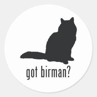 Birman katt runt klistermärke