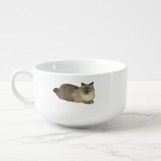 Birman katt mugg för soppa