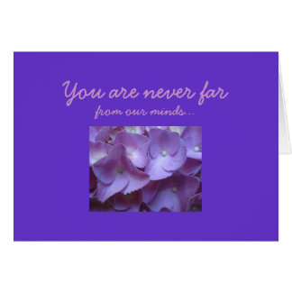 Birthmother i lilor hälsningskort