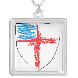 Biskops- skydda silverpläterat halsband