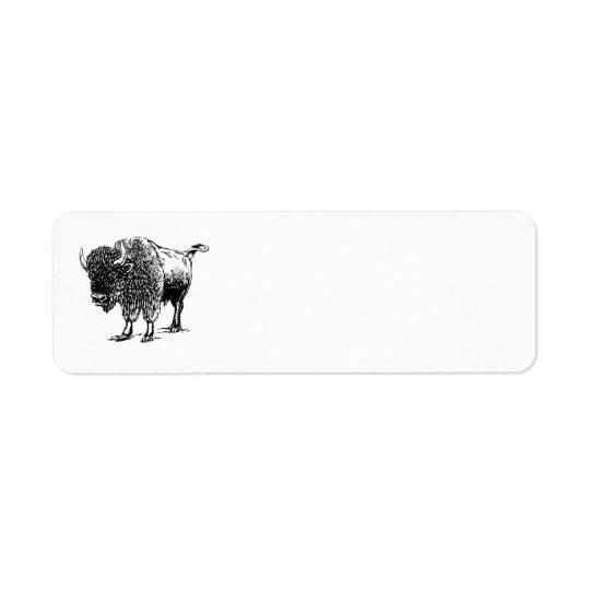 Bison Returadress Etikett