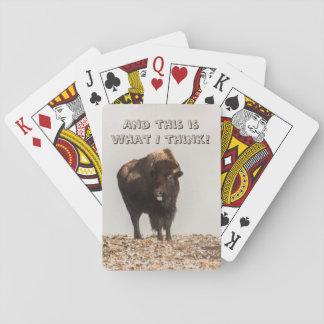 Bison som ut klibbar hans, roliga tunga - humorn - casinokort