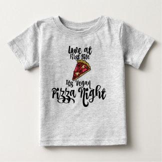 Bita för kärlek först dess VeganPizzanatt! bebis Tröjor