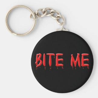 Bita mig blodnyckelringen rund nyckelring