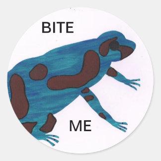 Bita mig runt klistermärke