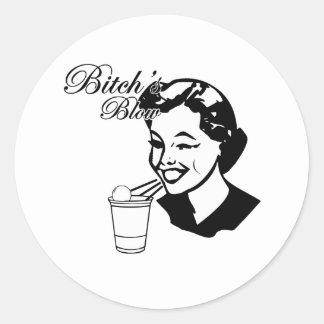 Bitchs slag runt klistermärke