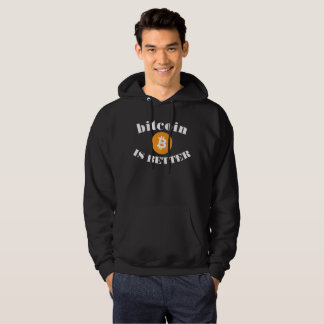 Bitcoin är den bättre svart hoodien sweatshirt med luva