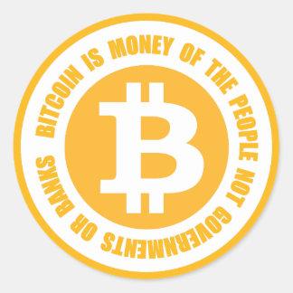 Bitcoin är pengar av folket inte regeringar runt klistermärke