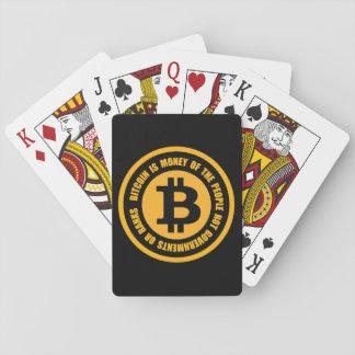 Bitcoin är pengar av folket inte regeringar spelkort