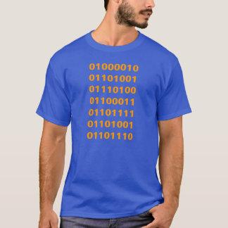 Bitcoin binär skjorta med den tillbaka logotypen tee shirts