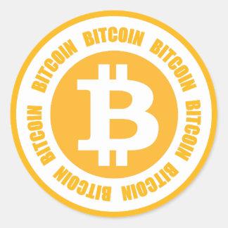 Bitcoin Bitcoin Bitcoin Runt Klistermärke