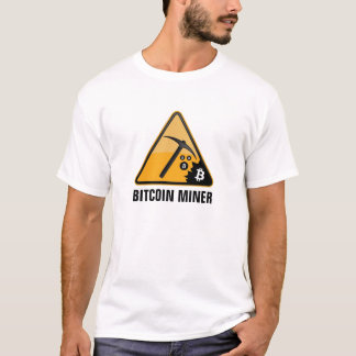 Bitcoin gruvarbetare t-shirts