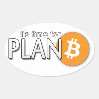 Bitcoin klistermärke: Det är tid för Plan ฿ Ovalt Klistermärke