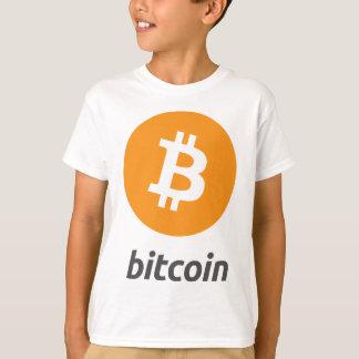 Bitcoin logotyp med text t-shirts